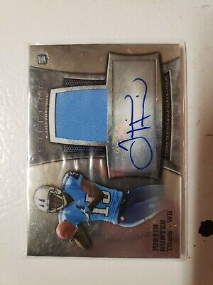 $4.99 • Buy Justin Hunter 2013 Bowman Sterling Rookie Autograph Jersey Card 147/166