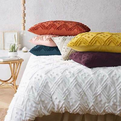 $ CDN179.78 • Buy Renee Taylor Medallion Cotton Vintage Washed Tufted Quilt Cover Set 7-Colours