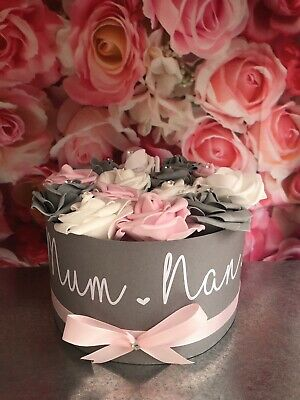 £18.50 • Buy Personalised Artificial Rose Decoration Handmade Boxes Not Hat Boxes Gift Weddin