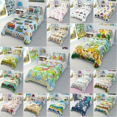Cot Cot Bed Toddler Bed Bedding Set Curtains Nursery Baby Boys Girls 100% Cotton • 13.99£
