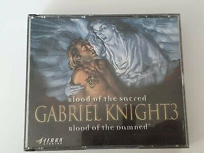 AU40 • Buy PC Game Blood Of The Sacred GABRIEL KNIGHT3 Blood Of The Damned, All 3 Discs Inc