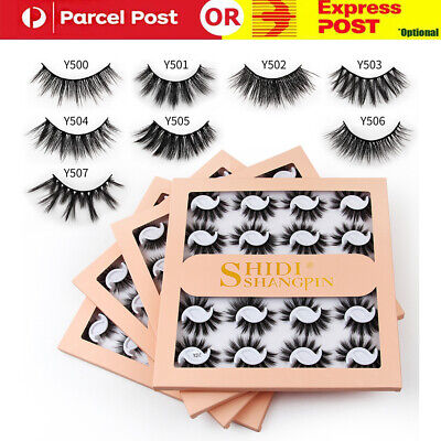 AU12.99 • Buy 5 Pairs Mink Natural Thick 3D False Fake Eyelashes Eye Lashes Makeup Extension