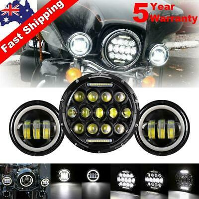 AU91.84 • Buy 7 Inch Headlight Pair 4.5 Inch LED Fog Light Passing Spot For Harley Motorcycle