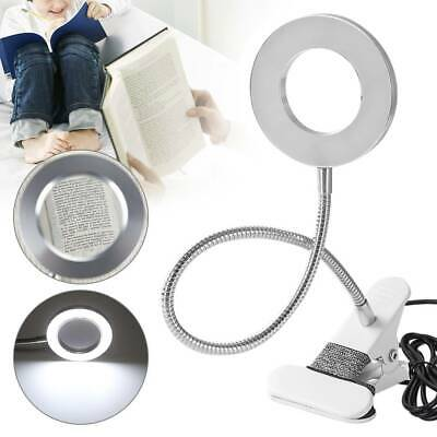 £9.99 • Buy 8X Desk Table Top Magnifying Glass Beauty Nail Salon Tattoo Magnifier Lamp Kit