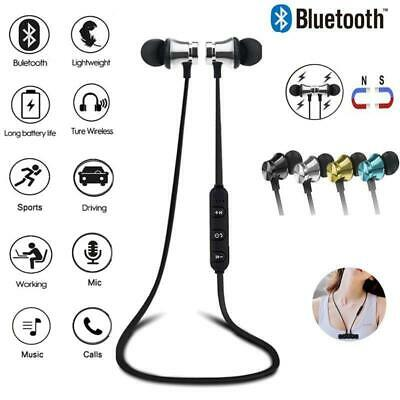 Wireless Bluetooth Earphones Headphones Sport Gym For Samsung & IPhone UK STOCK • 3.99£