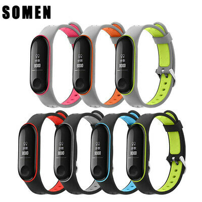 $4.59 • Buy For Xiaomi Mi Band 3/4 Bracelet Silicone Watchband Sport Replacement Wrist Strap