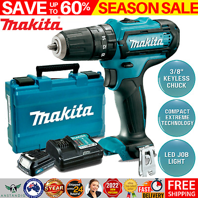 AU134.96 • Buy New Makita Cordless Drill Driver Power Tool Combo Kit With Charger Battery Set