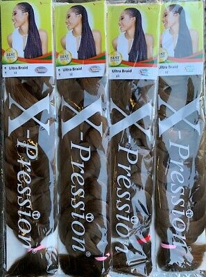 X-Pression Ultra Braid Hair For Braiding, Twisting And Plaiting (100% Kanekalon) • 1.99£