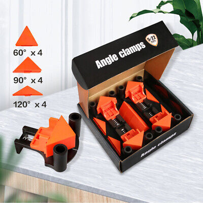 $14.37 • Buy 4Pcs 90° Right Angle Corner Clamp Clip Fixer Ruler Clamp Woodworking Hand Tool