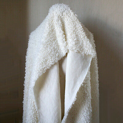 White Luxurious Lambs Wool Cashmere Premium Pressed Pile Sewing Craft Decoration • 18.99£
