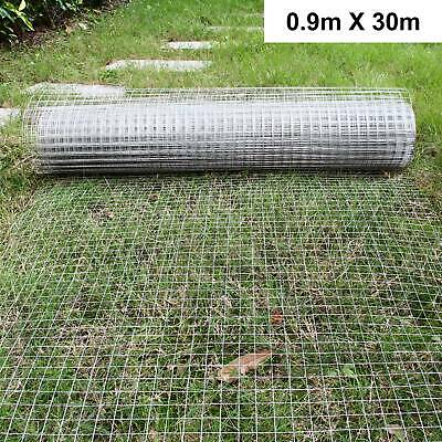 £31.99 • Buy 1 X1 Wire Mesh Fence Chicken Rabbit Cage Hutch Aviary Galvanised 0.9*30m