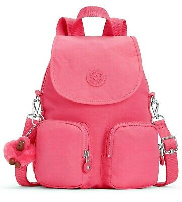 Kipling FIREFLY UP Small Backpack Covertible To Shoulder Bag - City Pink • 69£
