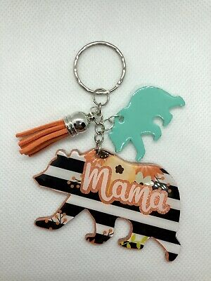 $12 • Buy Mama Bear Keychain Gift For Women Car Accessories