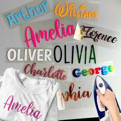 £3.45 • Buy Name T-Shirt Decal Iron-On Transfer Heat Vinyl Personalised Custom Word Text