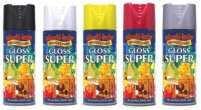 3 PACK Plastikote Gloss Super Spray Paint Various Colours • 20£