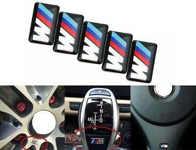 AU6 • Buy BMW M Power E30 E46 E90 STICKER BADGE STEERING WHEEL RIM Interior 5x 16x7