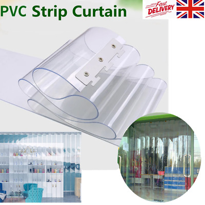 £56.52 • Buy PVC Plastic Door Strips Curtain 2M*18CM Clear For Catering Cold Room Warehouse