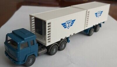 Wiking Germany 1/87 HO Scale Container Lorry With Loads • 15£