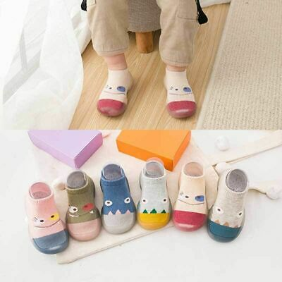 Cartoon Newborn Baby Kids Toddler Anti-Slip Socks Slipper Home Crib Shoes Boots • 5.79£