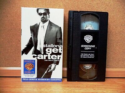 GET CARTER (VHS 2001) FULL LENGTH SCREENER, Sylvester Stallone, Mickey Rourke  • 7.15£