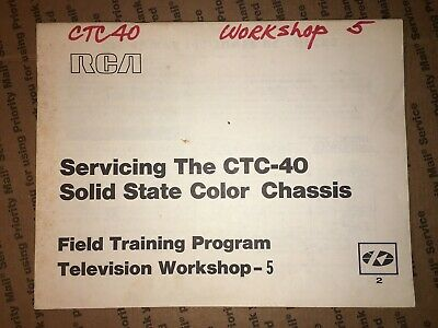 $9 • Buy RCA Servicing The CTC40 Color Chassis Field Training Program TV Workshop -5
