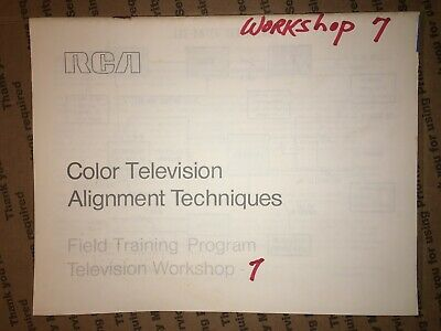$9 • Buy RCA Color Television Alignment Techniques Field Training Program TV Workshop 7
