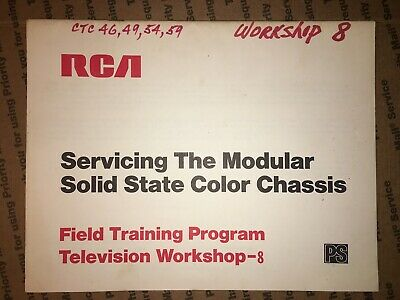 $9 • Buy RCA Servicing Modular Solid State Color Chassis Field Training Program Workshop8