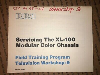 $11 • Buy RCA Servicing The XL-100 Modular Color Chassis Field Training Program Workshop 9
