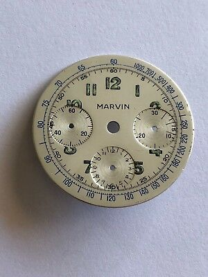 $ CDN189.46 • Buy Vintage Marvin Chronograph Dial For Valjoux 72 Movement