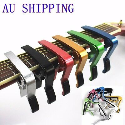 AU6.85 • Buy Premium Alloy Capo Quick Change Trigger Clamp For Guitar Banjo Ukulele Mandolin