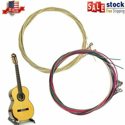 $ CDN6.52 • Buy 6pcs/set Gold Acoustic Guitar Strings 1st-6th String Steel Strings USA Durable