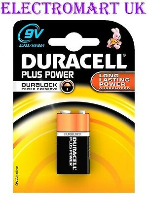 1 X Duracell Mn1604 Plus Power 9v Pp3  Battery Smoke Alarm  • 2.98£