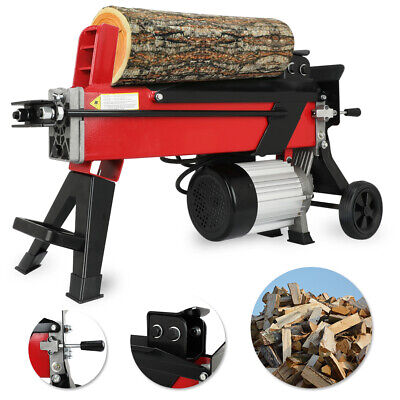 Logmaster Electric Hydraulic Log Splitter 5 Ton Fire Wood Timber Cutter & Stand • 228.85£