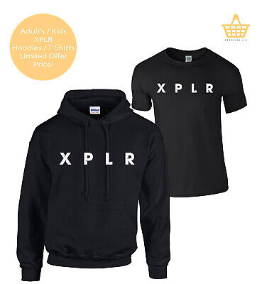 XPLR ADULT / KIDS Hoodie Colby Brock Sizes Sam And Colby Youtube Inspired Top • 12.95£