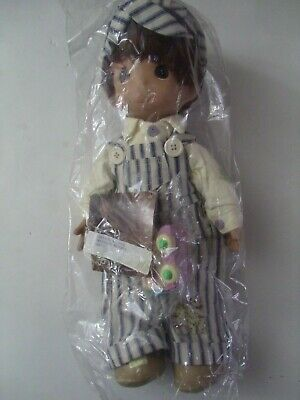 $38.99 • Buy Precious Moments Dusty The Engineer Doll And Train Car 1993 Vintage Retired