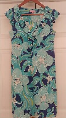 $17 • Buy Lilly Pulitzer Ruffle Front Dress Small