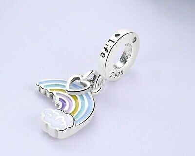 AU27 • Buy RAINBOW OF LOVE S925 Sterling Silver Dangle Charm By Charm Heaven