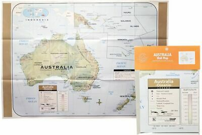 AU6.93 • Buy Large Detailed Map Of Aus Australian Roads Atlas Wall Print Premium Poster
