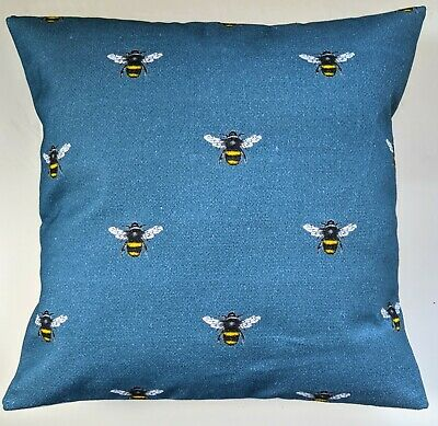 £13.19 • Buy Cushion Cover In Clarke And Clarke Abeja Bumble Bee Blue 16