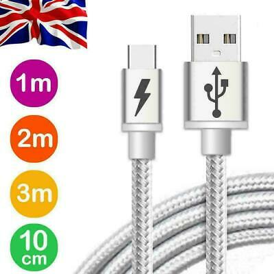 Fast Charger For Samsung Galaxy S8 S9 S10+ Plus Type C USB-C Data Charging Cable • 2.40£