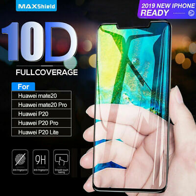 For Huawei P20 Lite P20 Pro Full 10D Tempered Glass 9H Screen Protector Cover  • 2.99£