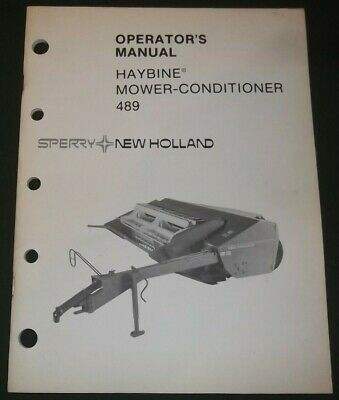 AU26.88 • Buy New Holland 489 Haybine Mower Conditioner Owners Operation & Maintenance Manual