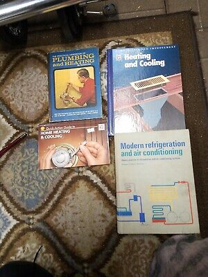 £35.26 • Buy Vintage Plumbing,  Heating And Cooling Book Lot Of 4