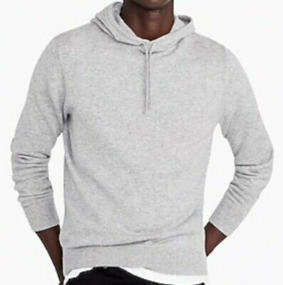 $148 • Buy J Crew Mens Gray Everyday Cashmere Hoodie Sweater Size S