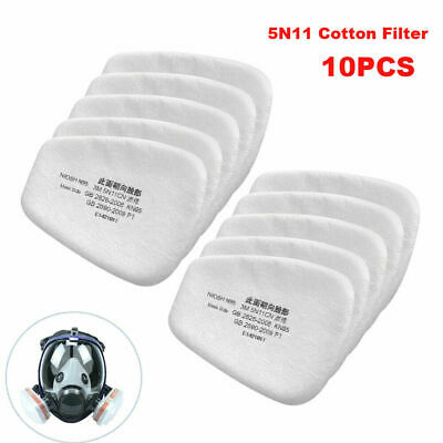 AU11.28 • Buy 10x 5N11 Cotton Filter Respirator Safety Protect Replacement For 6200 6800 7502