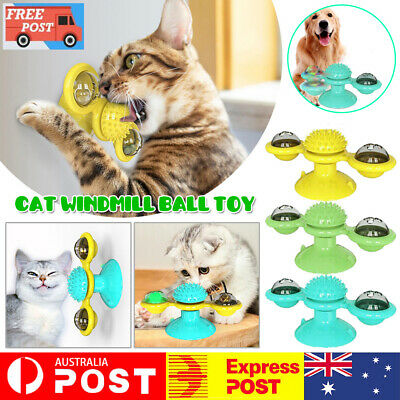 AU8.95 • Buy Windmill Cat Toy Kitty Turntable Interactive Toy Scratch Hair Brush AU STOCK