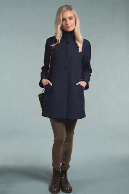 $126.65 • Buy Geiger Austria Boiled Wool Walk Jacket Walking Coat Slate Blue Sz EU 40 12-14 XL