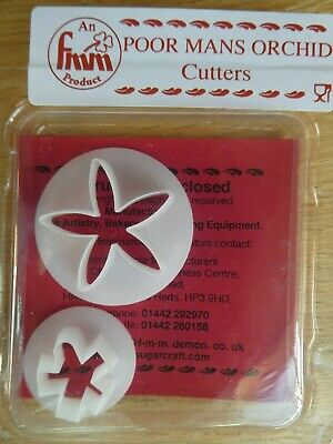 FMM Cutter Poor Mans Orchid Cutter Flower Tool For Sugarcraft Sugarpaste • 2.49£