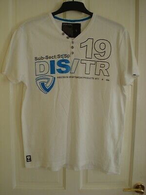 £3 • Buy Urban Spirit Mens Top T Shirt White Turquoise Size L Excellent Condition