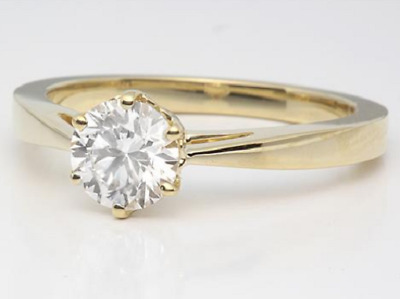 18ct Yellow Gold Over Diamond Solitaire Ring Engagement 1ct Carat • 39£